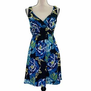 Jonathan Martin A-Line Sleeveless Floral Dress 4P